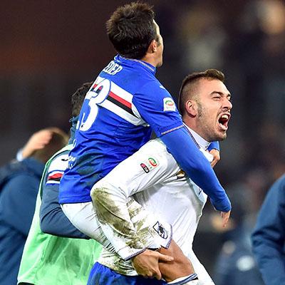 Sampdoria conquer the city: goals from Soriano and Eder overcome the Rossoblu