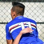 Sestri Levante (Genova), 31/10/2015 Primavera/Sampdoria-Juventus Gol Sampdoria Primavera (1-1): esultanza Andrea Bacigalupo-Andres Fabian Ponce
