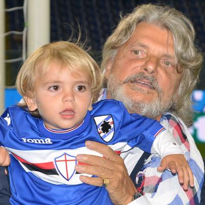 Auguri blucerchiati al presidente Ferrero e al piccolo Rocco