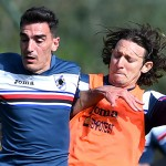 Bogliasco (Genova), 06/04/2016 Sampdoria/Allenamento Lazaros Christodoulopoulos-Edgar Osvaldo Barreto