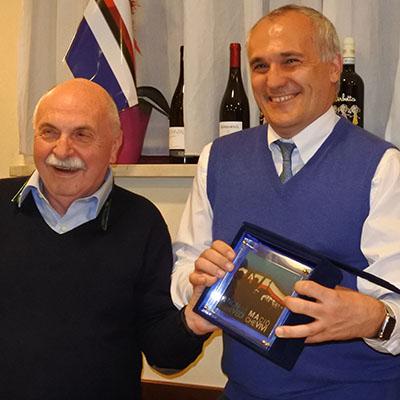 L'avvocato Romei con Soriano e Correa alla cena dei Sampdoria Club Varazze e Cogoleto
