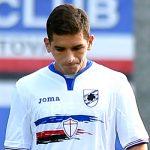 Temu (Brescia), 27/07/2016 Sampdoria/Ritiro 2016-17 - Sampdoria-Feralpisalo (Amichevole) Gol Feralpisalo (0-2): delusione Lucas Sebastian Torreira-Vasco Regini-David Ivan