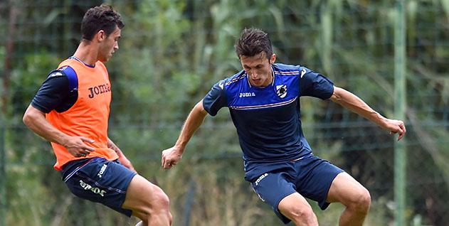 Bogliasco (Genova), 16/08/2016 Sampdoria/Allenamento Pedro Miguel Pereira-Ante Budimir
