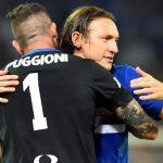 Genova, 28/08/2016 Serie A/Sampdoria-Atalanta Christian Puggioni-Edgar Osvaldo Barreto - Esultanza finale