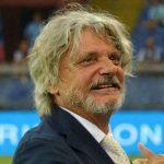 Genova, 28/08/2016 Serie A/Sampdoria-Atalanta Massimo Ferrero (presidente Sampdoria)-Dennis Praet