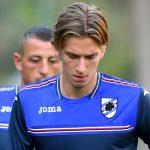 Bogliasco (Genova), 23/08/2016 Sampdoria/Allenamento Jose Rodolfo Pires Dodo-Angelo Palombo-Dennis Praet