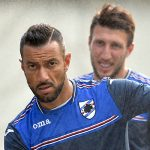 Bogliasco (Genova), 16/08/2016 Sampdoria/Allenamento Fabio Quagliarella-Vasco Regini