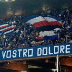 Genova, 28/08/2016 Serie A/Sampdoria-Atalanta Tifosi Sampdoria - Striscione dedicato alle vittime del terremoto in Abruzzo-Lazio-Marche