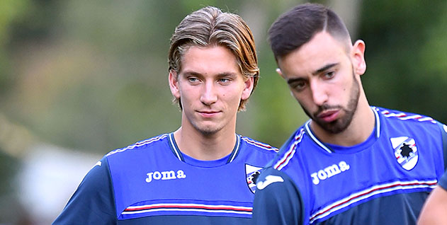 Bogliasco (Genova), 23/08/2016 Sampdoria/Allenamento Dennis Praet-Bruno Miguel Borges Fernandes