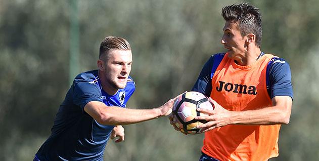 Bogliasco (Genova), 29/09/2016 Sampdoria/Allenamento Milan Skriniar-Ante Budimir