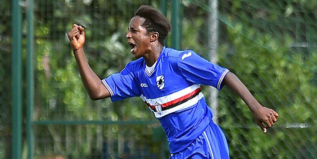 Sestri Levante (Genova), 17/09/2016 Primavera/Sampdoria-Brescia Gol Sampdoria Primavera (1-0): esultanza Ibourahima Balde Balde