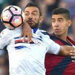Bologna, 21/09/2016 Serie A/Bologna-Sampdoria Fabio Quagliarella-Adam Masina
