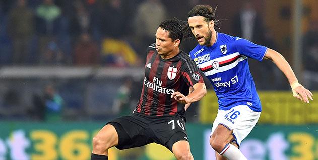Genova, 17/04/2016 Serie A/Sampdoria-Milan Carlos Arturo Ahumada Bacca-Matias Agustin Silvestre