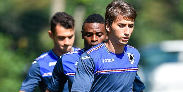 Bogliasco (Genova), 06/09/2016 Sampdoria/Allenamento Pedro Miguel Pereira-Stanley Amuzie-Filip Djuricic