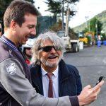 Bogliasco (Genova), 18/10/2016 Sampdoria/Allenamento Massimo Ferrero (presidente Sampdoria) - Selfie