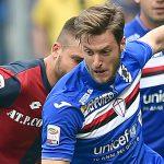 Genova, 08/05/2016 Serie A/Sampdoria-Genoa Leonardo Pavoletti-Jacopo Sala