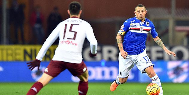 Genova, 03/02/2016 Serie A/Sampdoria-Torino Marco Benassi-Angelo Palombo