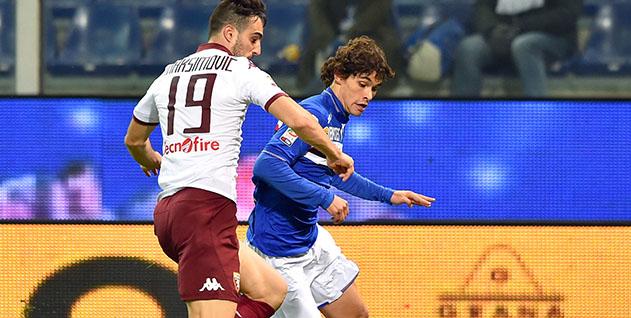 Genova, 03/02/2016 Serie A/Sampdoria-Torino Nikola Maksimovic-Jose Rodolfo Pires Dodo