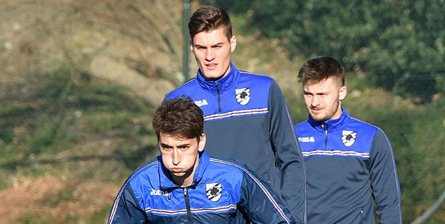 Allenamento calcio Sampdoria prima
