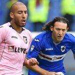Genova, 02/10/2016 Serie A/Sampdoria-Palermo Haitam Aleesami-Edgar Osvaldo Barreto