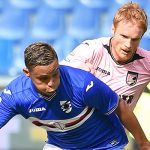 Genova, 02/10/2016 Serie A/Sampdoria-Palermo Luis Fernando Muriel-Alessandro Carlo Gazzi