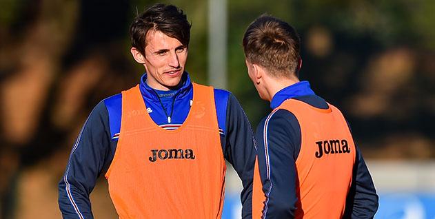 Bogliasco (Genova), 26/01/2017 Sampdoria/Allenamento Ante Budimir-Dennis Praet