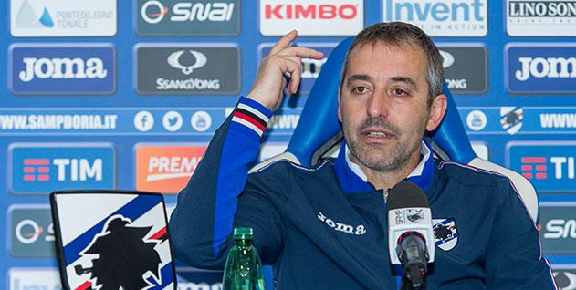Bogliasco (Genova), 28/04/2017 Sampdoria/Giampaolo - Conferenza stampa Marco Giampaolo (allenatore Sampdoria)