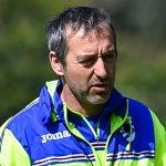 Bogliasco (Genova), 07/04/2017 Sampdoria/Allenamento Francesco Conti (viceallenatore Sampdoria)-Marco Giampaolo (allenatore Sampdoria)