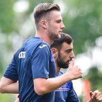 Bogliasco (Genova), 16/08/2016 Sampdoria/Allenamento Milan Skriniar-Bruno Miguel Borges Fernandes