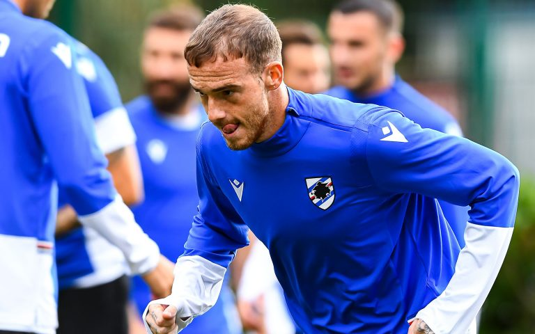 Samp back on training pitch with session in two groups