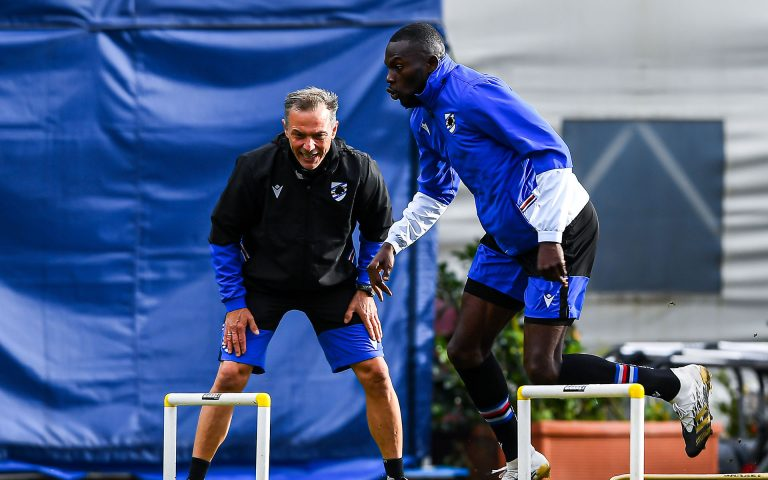 Gym and fitness work for Samp at a windy Mugnaini