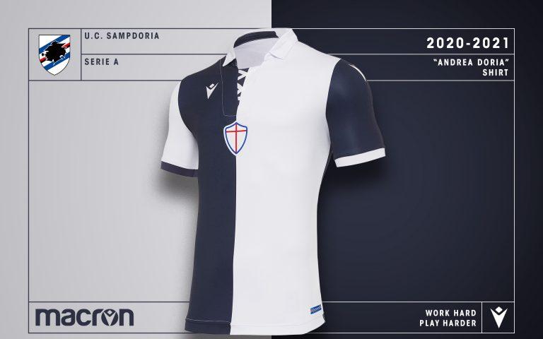 Andrea Doria: i dettagli della maglia realizzata da Macron