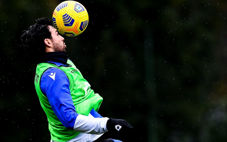 Tonelli back with the team as training resumes in Bogliasco