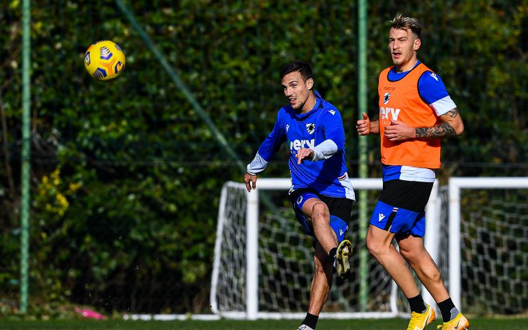 Samp resume training at the Mugnaini ahead of Atalanta clash