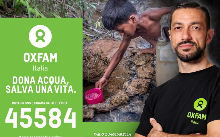 La Samp e Quagliarella con OXFAM, acqua che salva la vita