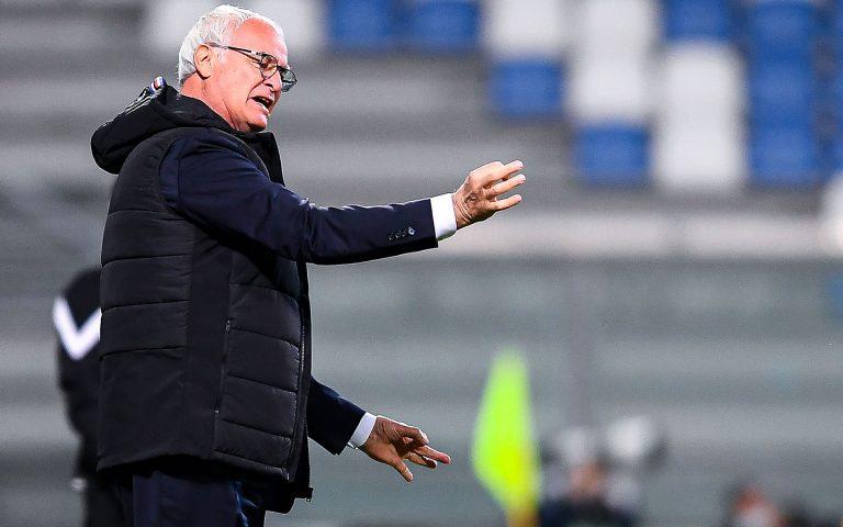 Ranieri: «Soddisfatto per il primo tempo. Ai miei dico bravi»