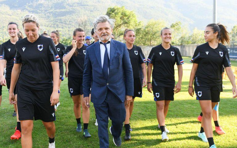 Un giorno con la Sampdoria Women: Ferrero a Saint-Vincent