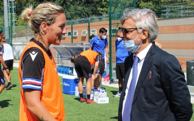 Samp Women, Ferrero in visita a Bogliasco: «Vi dovete divertire»
