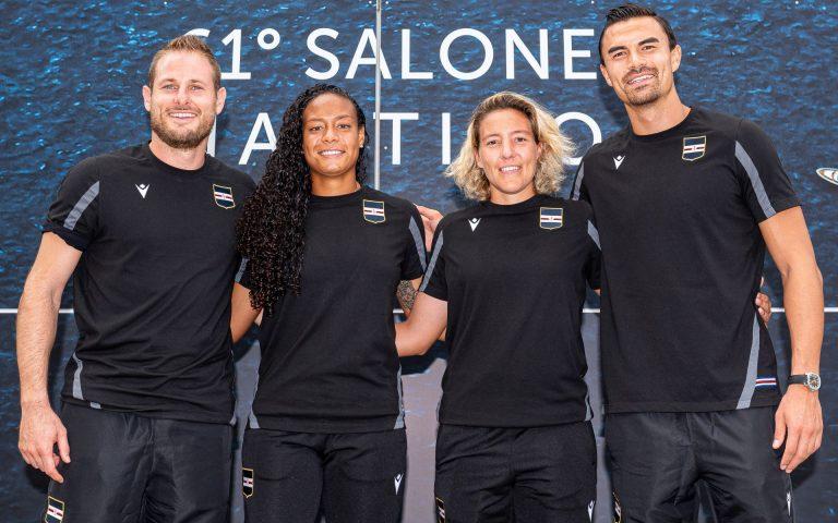 Blucerchiati in visita: la Sampdoria apre il Salone Nautico