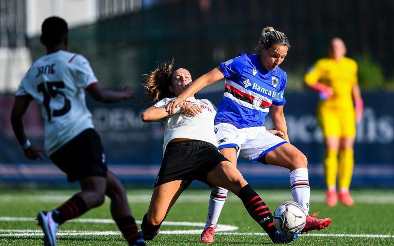 Samp Women suffer narrow defeat to Milan