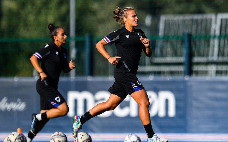 Samp women at work ahead of Sampdoria v Inter